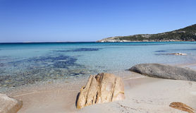 Beach in La Maddalena (Sardinia) Royalty Free Stock Photos