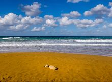 Beach La Ramla.Gozo. Malta royalty free stock photos