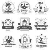 Beach Label Set Royalty Free Stock Image