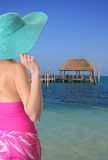 Beach lady Royalty Free Stock Photos