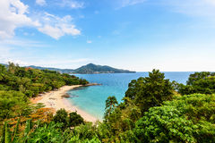 Beach of Laem Sing Cape in Phuket island Royalty Free Stock Image