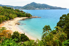 Beach of Laem Sing Cape in Phuket island Royalty Free Stock Photo