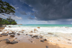 Beach Laem Sing in Phuket Stock Photo
