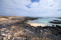 Beach lagoon in El Cotillo town, Fuerteventura, Canary Islands, Stock Photos