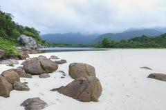 Beach and lagoon on Ilha Grande Stock Photos