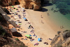 Beach in Lagos, Algarve Portugal Royalty Free Stock Photo
