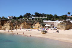 Beach in Lagos, Algarve Portugal Stock Image