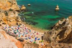 Beach in Lagos - Algarve Portugal. Beach in Lagos - Algarve region in Portugal Royalty Free Stock Image