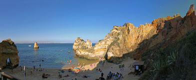 Beach in Lagos. Great Beach in Lagos, Portugal  shortly before sunset Stock Image