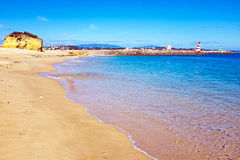 Beach in Lagos Portugal Royalty Free Stock Images