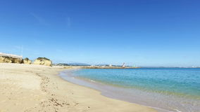 Beach in Lagos Portugal stock video footage