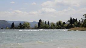 Beach in Lake Garda Italy stock video