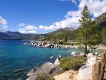 Beach at Lake Tahoe Stock Images