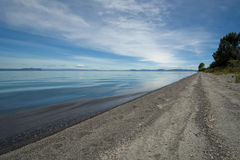 Beach on Lake Taupo, North Island, New Zealand Stock Photo