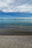 Beach on Lake Taupo, North Island, New Zealand Royalty Free Stock Images
