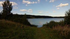 Lake in the Valdai region. Lake Seredeyskoye. royalty free stock photos