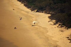Beach Landing for Hang Glider at Byron Bay Royalty Free Stock Photography