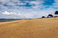 Beach of Landrezac, Sarzeau, Morbihan, Brittany Bretagne, Fran. Ce royalty free stock image