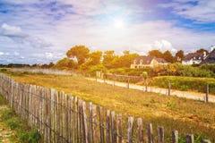 Beach of Landrezac, Sarzeau, Morbihan, Brittany (Bretagne), Fran. Ce royalty free stock photos