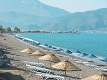 Beach landscape in aeagean sea fethiye turkey Stock Photography
