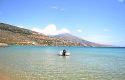 Beach landscape Andros island Greece Royalty Free Stock Photos
