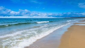 Beach landscape. Baltic coast. Stock Image