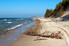 Beach landscape at the Baltic sea. Royalty Free Stock Photo