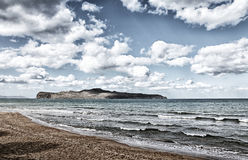 Beach landscape on Crete Greece Royalty Free Stock Images