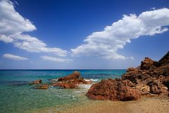Beach landscape. With crystal waters Stock Photos