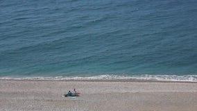 Beach landscape stock video