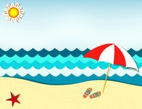 Beach landscape Royalty Free Stock Image