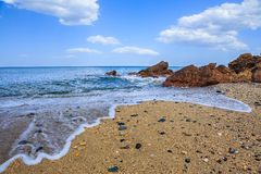 Beach landscape  Royalty Free Stock Photo