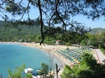 Beach landscape kemer resort turkey Stock Photos