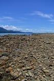 In the beach. Landscape of the marino ballenas beach Royalty Free Stock Photo