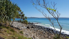 Beach Landscape. Landscape of beach at Noosa Stock Photos