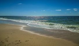 Beach landscape in the North Sea. The Beach landscape on the island of Sylt in the North Sea Royalty Free Stock Image