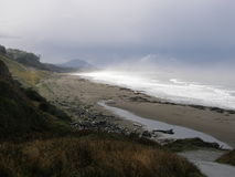 Beach landscape. An Oregon beach on a foggy morning Royalty Free Stock Photography