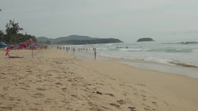 Beach landscape in Phuket stock footage