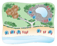 Beach Landscape Plan Royalty Free Stock Image