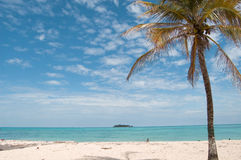 Beach landscape, San Andres island Royalty Free Stock Photos