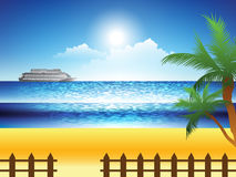Beach Landscape stock illustration