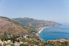 Beach landscape of Sicily Royalty Free Stock Images