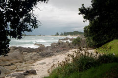 Beach Landscape, Tauranga City, North Island, New Zealand. City view Royalty Free Stock Image