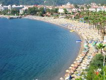 Beach landscape turkey coastline Royalty Free Stock Images