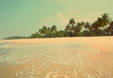 Beach landscape - vintage retro style Stock Photography