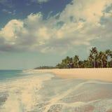 Beach landscape - vintage retro style Royalty Free Stock Image