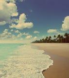 Beach landscape - vintage retro style Stock Photo
