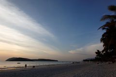 Beach on Langkawi island, Malaysia. Sunset at beach on Langkawi island, Malaysia Royalty Free Stock Photography
