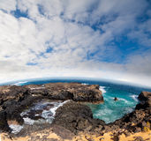 Beach of Lansarote - Canary island Royalty Free Stock Photography