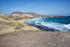Beach at lanzarote canarias puntal del papagayo. Spain Stock Images